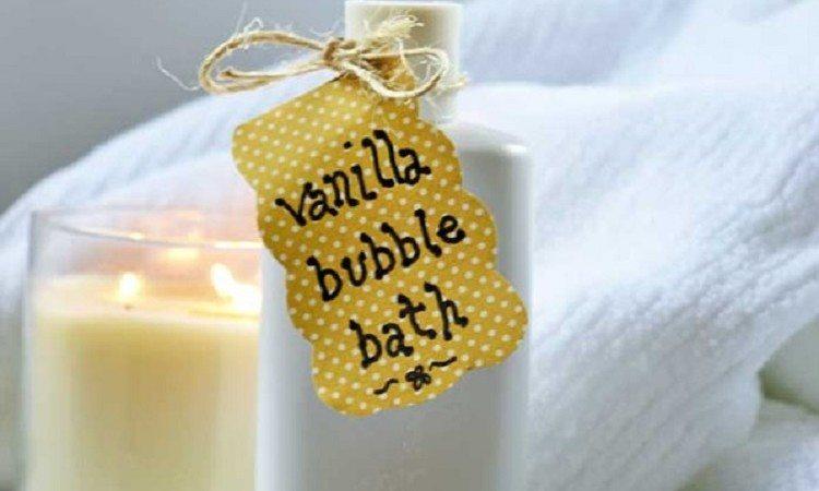 Hecho en casa Baño de espuma de vainilla y miel