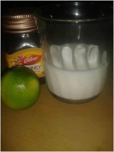 La leche, jugo de limón y miel: