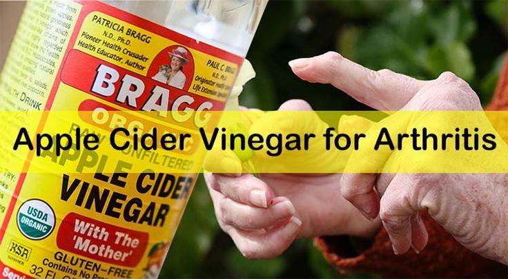 Vinagre de manzana para la artritis