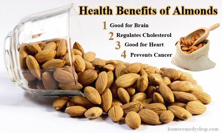 13 Beneficios para la salud de Almendras