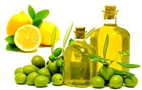 aceite de oliva y jugo de limón
