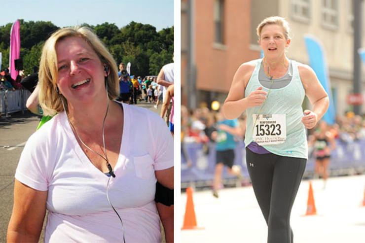 Corriendo antes y después