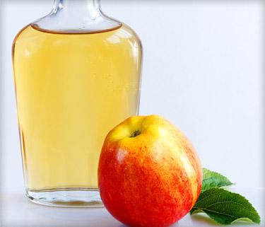 Verrugas de vinagre de sidra de manzana