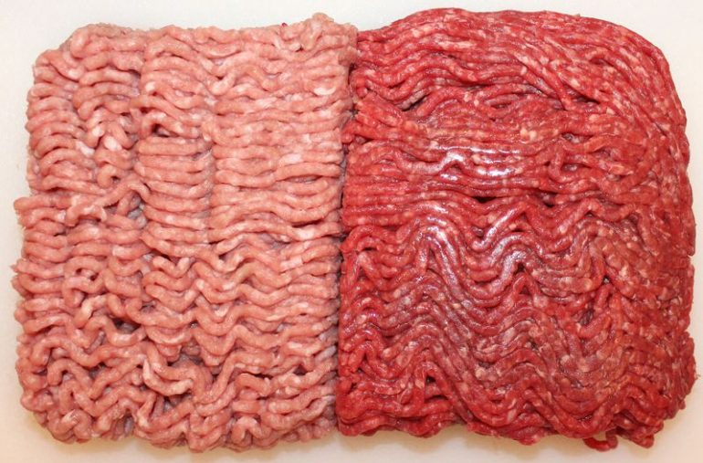 Pavo molido vs carne molida
